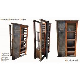 Armoire portes métal