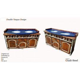 Double vasque bois & granit