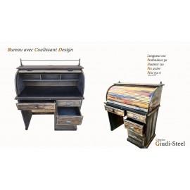 Bureau coulissant bois design
